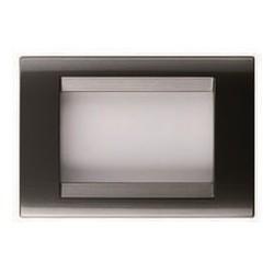 Placa gris pizarra 1 módulo