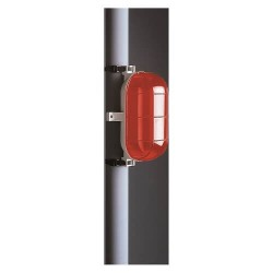 Aparato oval E27 IP44 60W rojo